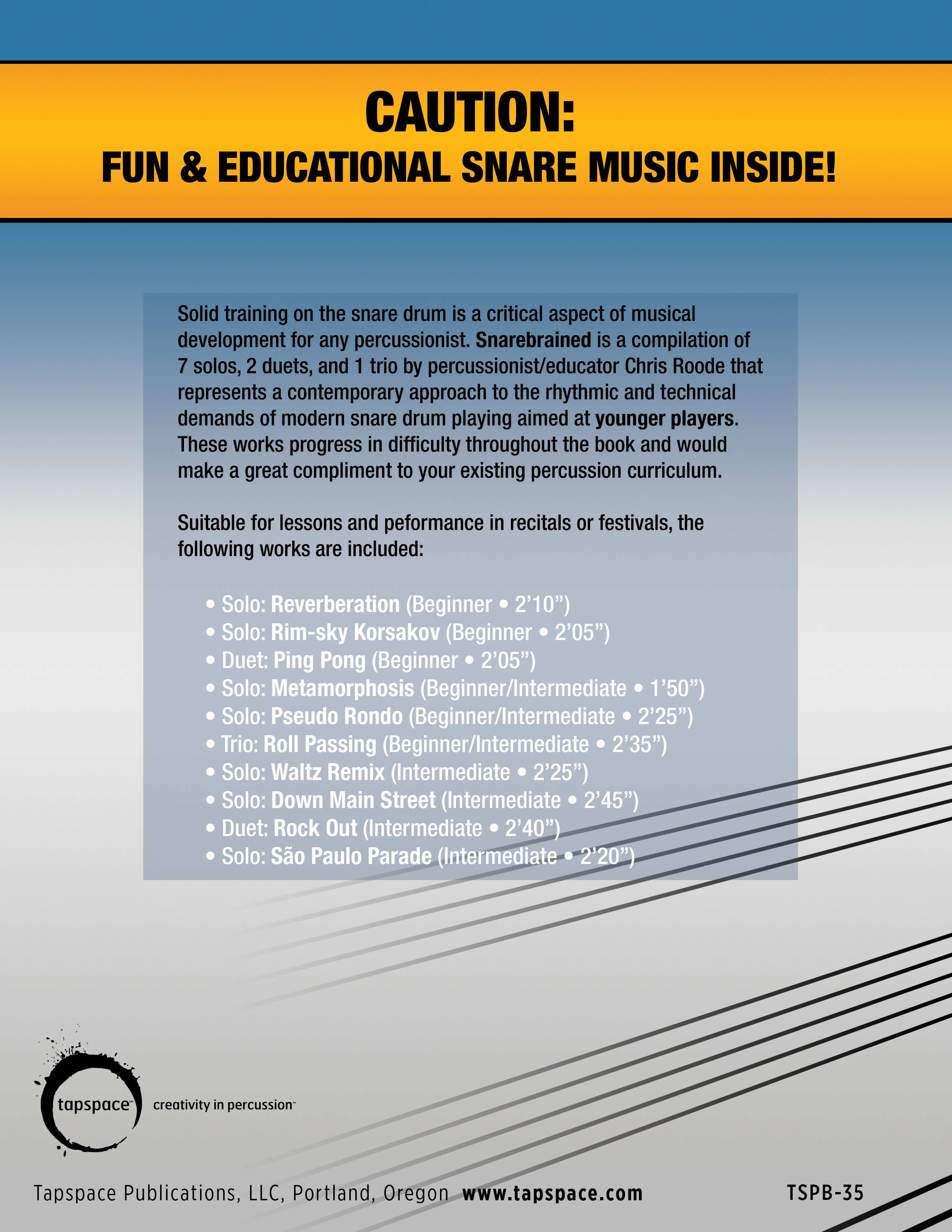 snare drum book reports
