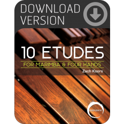 10 Etudes for Marimba & Four Hands (Download)